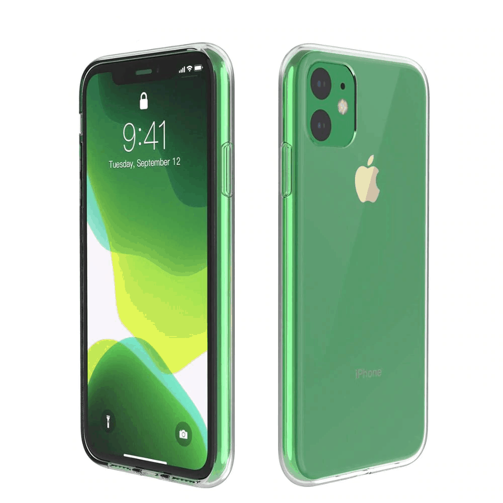 This is a transparent iPhone 11 Pro Max case by Hadinas.