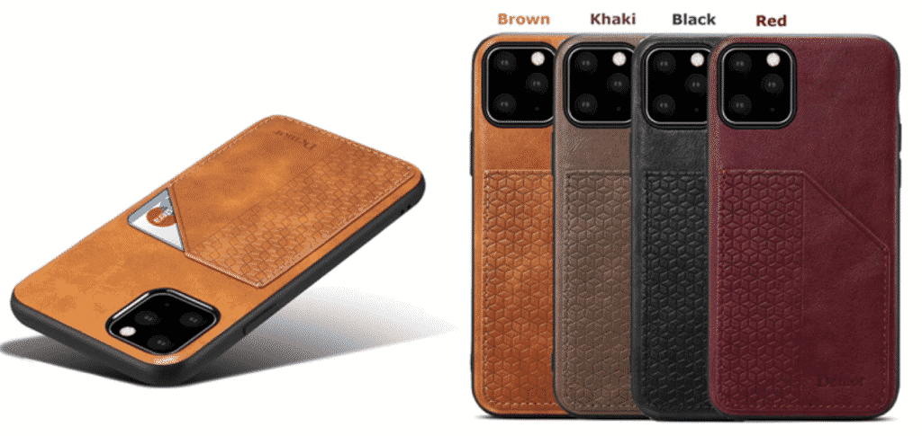 This is a leather case for the iPhone 11 Pro and is one of the best for holding a credit card and can be used as a wallet.