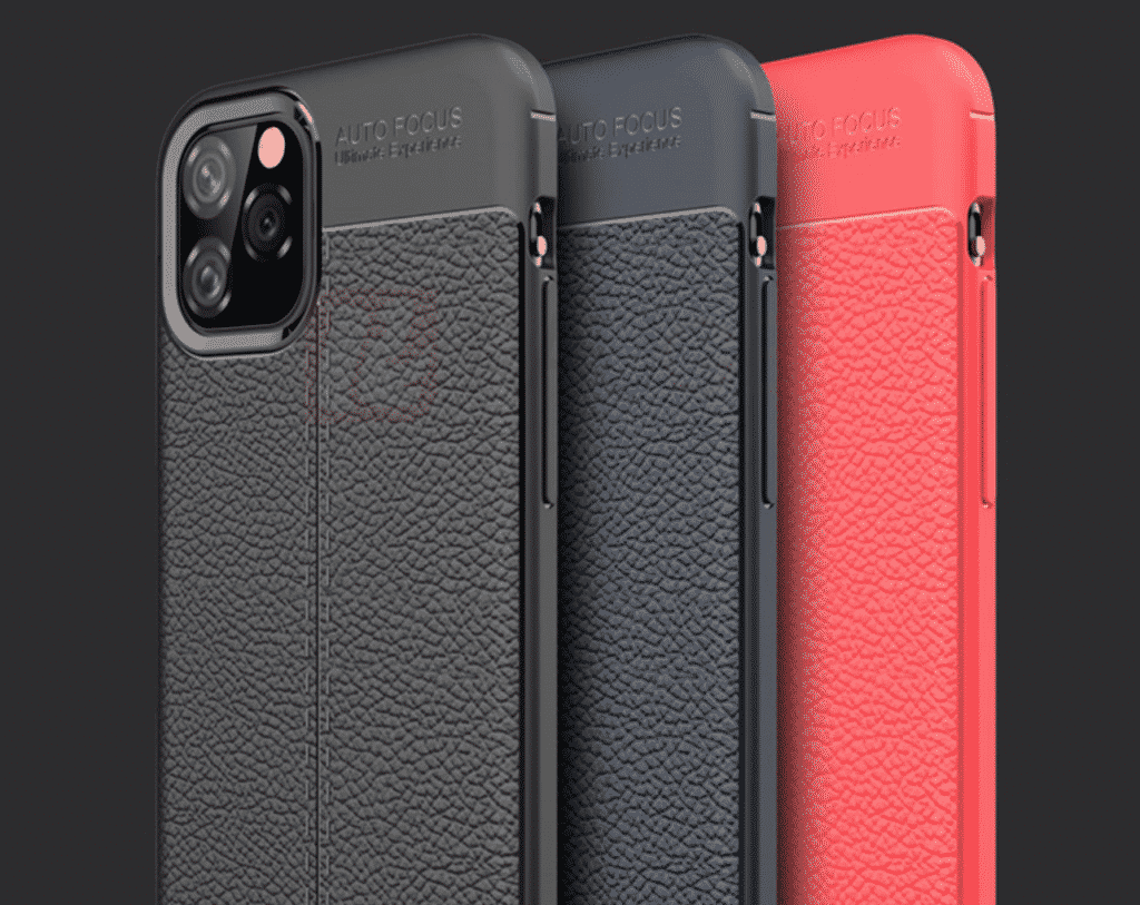 This is a leather case that is available in black, blue and red for the iPhone 11 Pro Max by Vifocal.