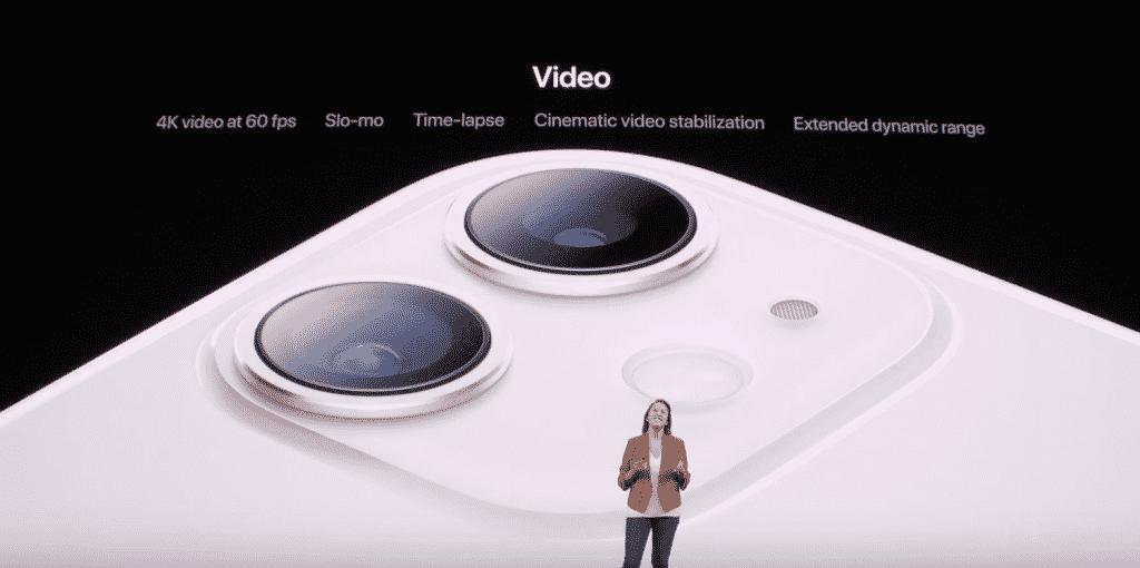iPhone 11 video camera