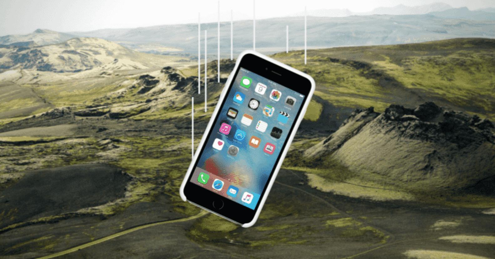 iPhone 6s Still Works Airplane icelandic Weather