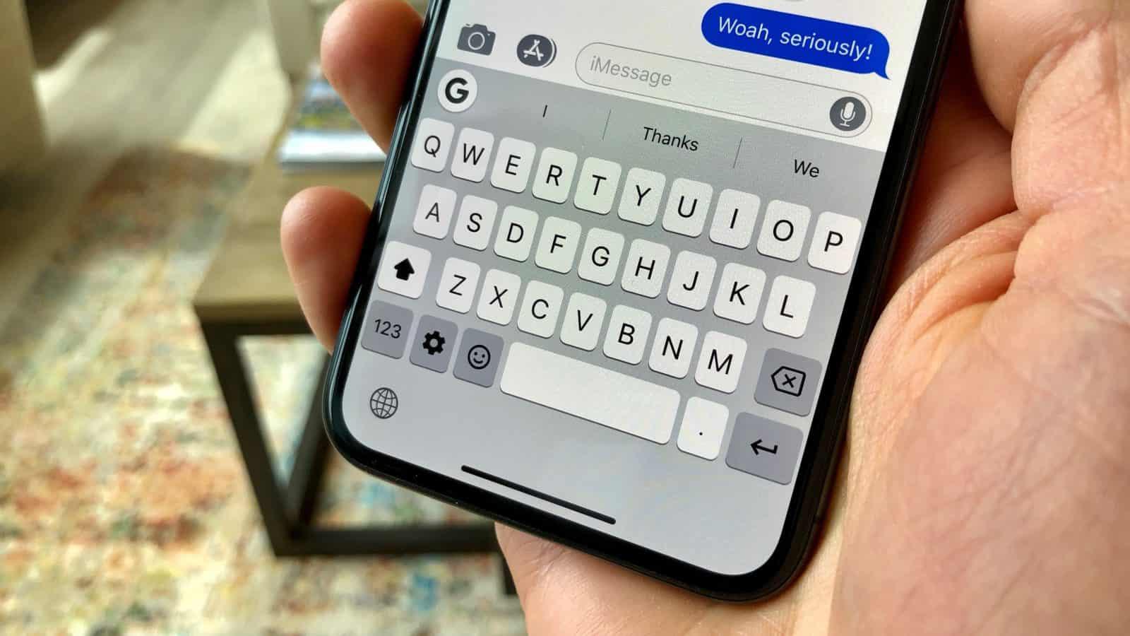 iOS keyboard issues