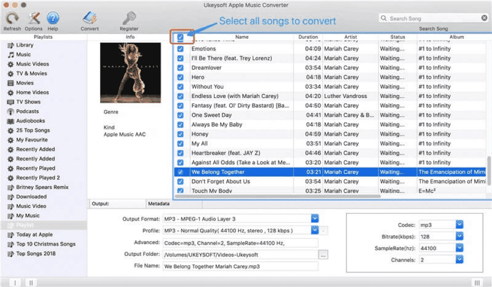 Batch Convert Apple Music Songs at Up to 16X Speed