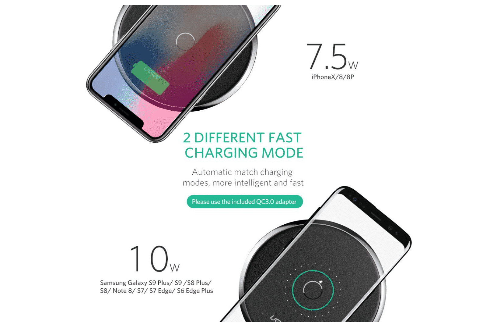 Enjoy 50% Off on this Wireless Charging Pad with Quick Charge Adapter