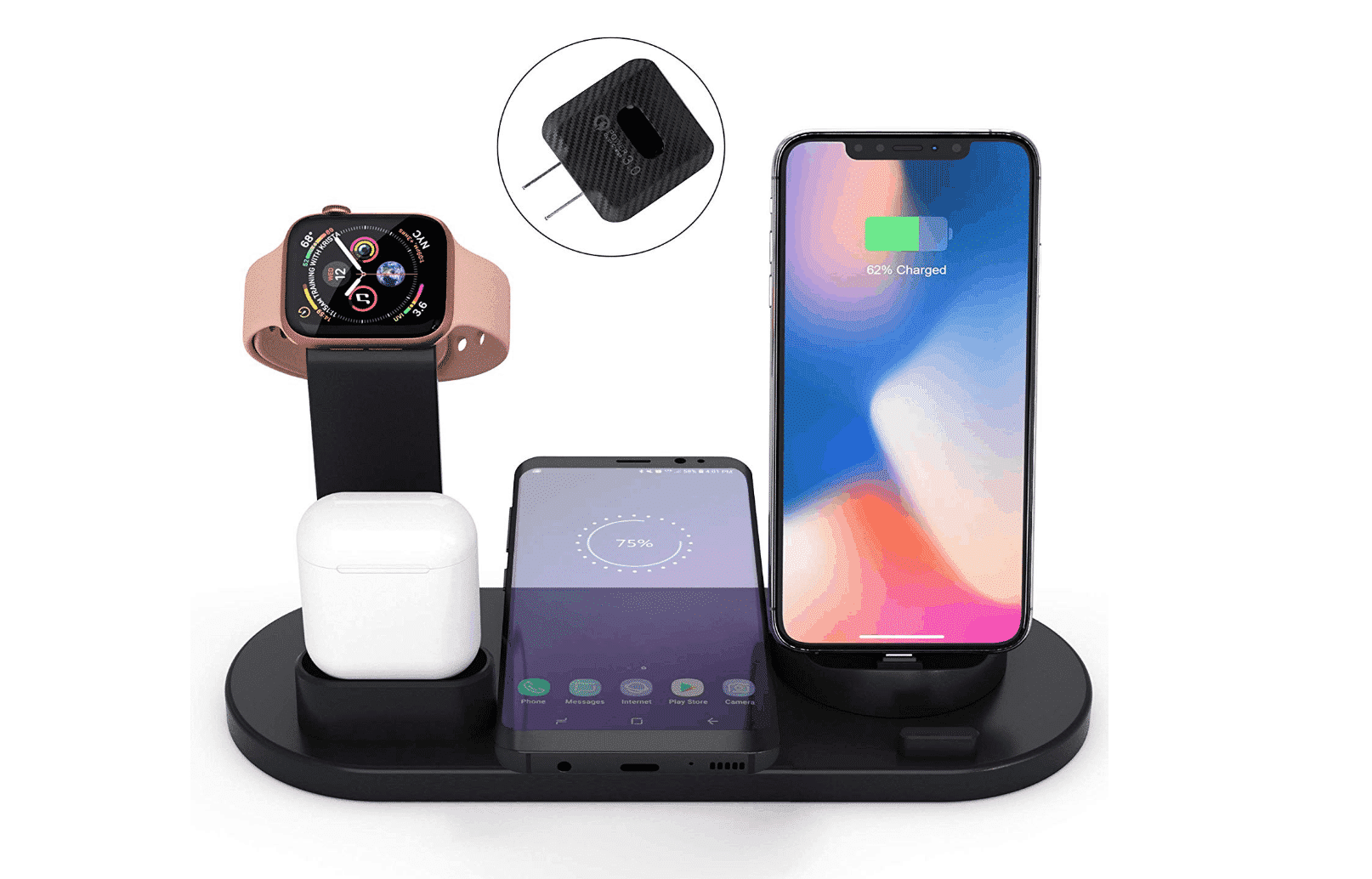 Get Untangled From Wires with The 4-in-1 Fast Wireless Charging Dock from Elaime