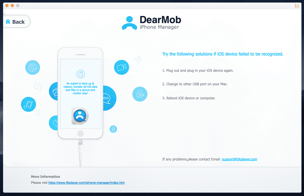 Use DearMob iPhone Manager