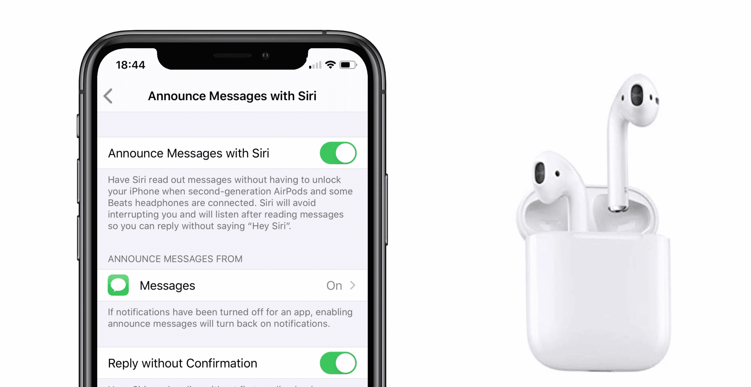 iOS 13.2 Brings Back 'Announce Message' Feature for AirPods