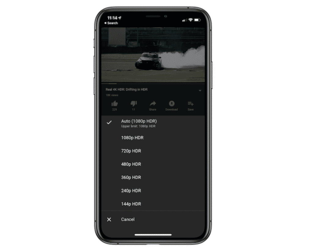 iPhone 11 Pro Max & Pro Get YouTube HDR Support 1