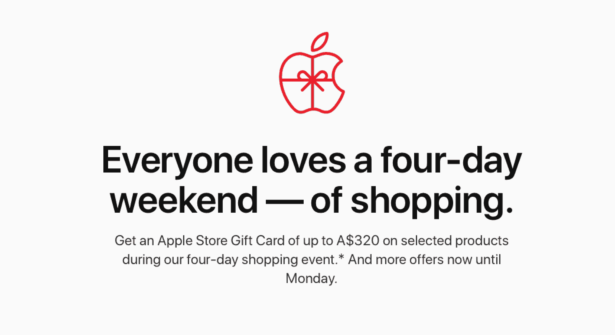 This is the gift card offer provided by Apple for black Friday deals.