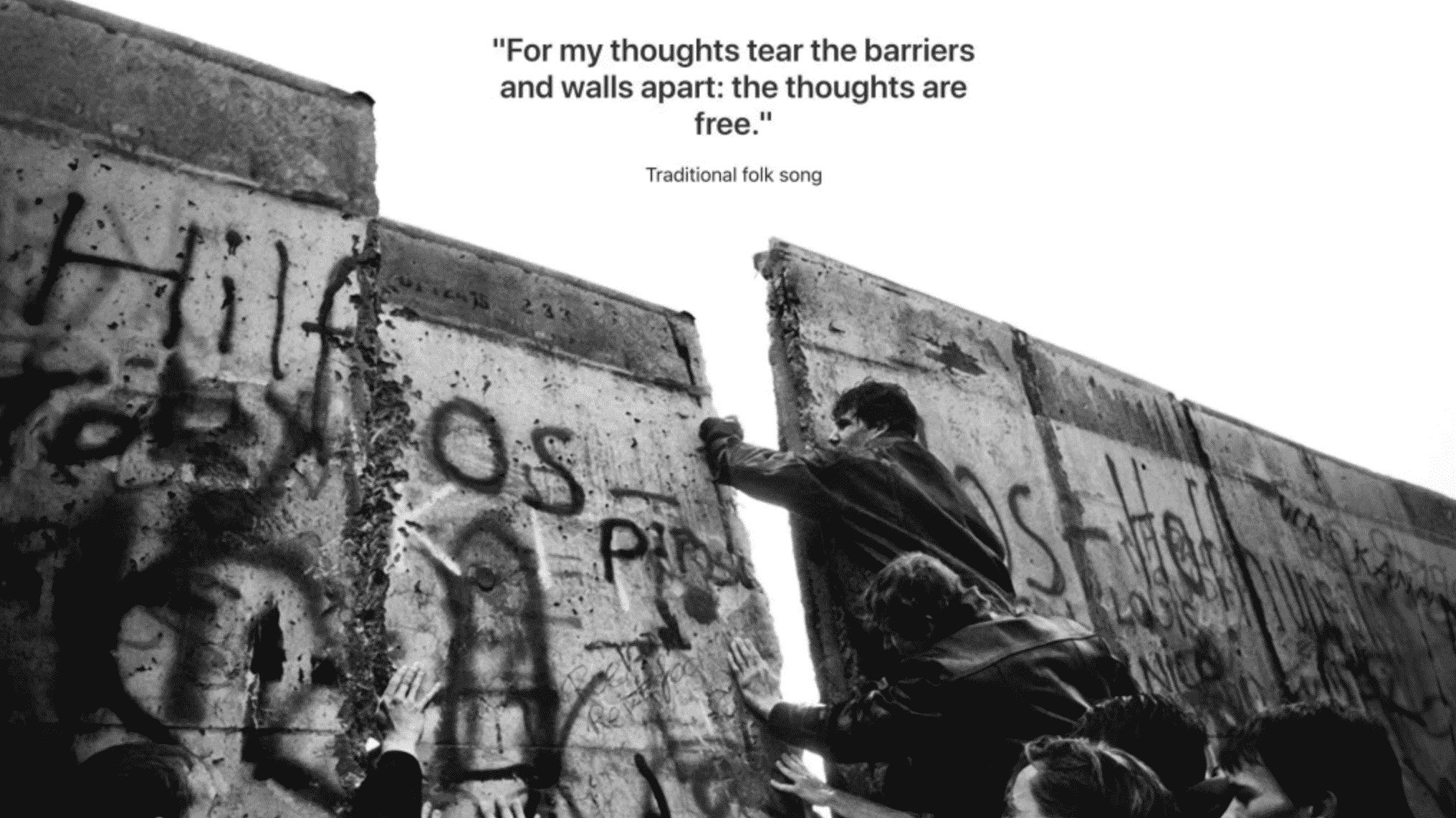 Apple Posts Special Tribute of Berlin Wall Anniversary on Apple.com Germany