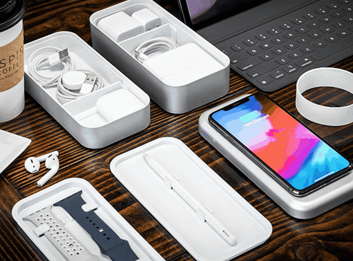 Keep all Apple accessories together with this wireless charging box by BentoStack