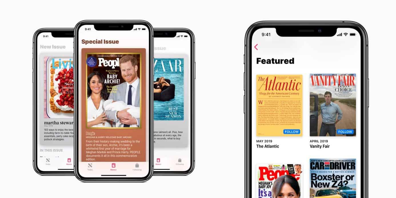 This is the Apple News+ subscription on many iPhone mobile phones.