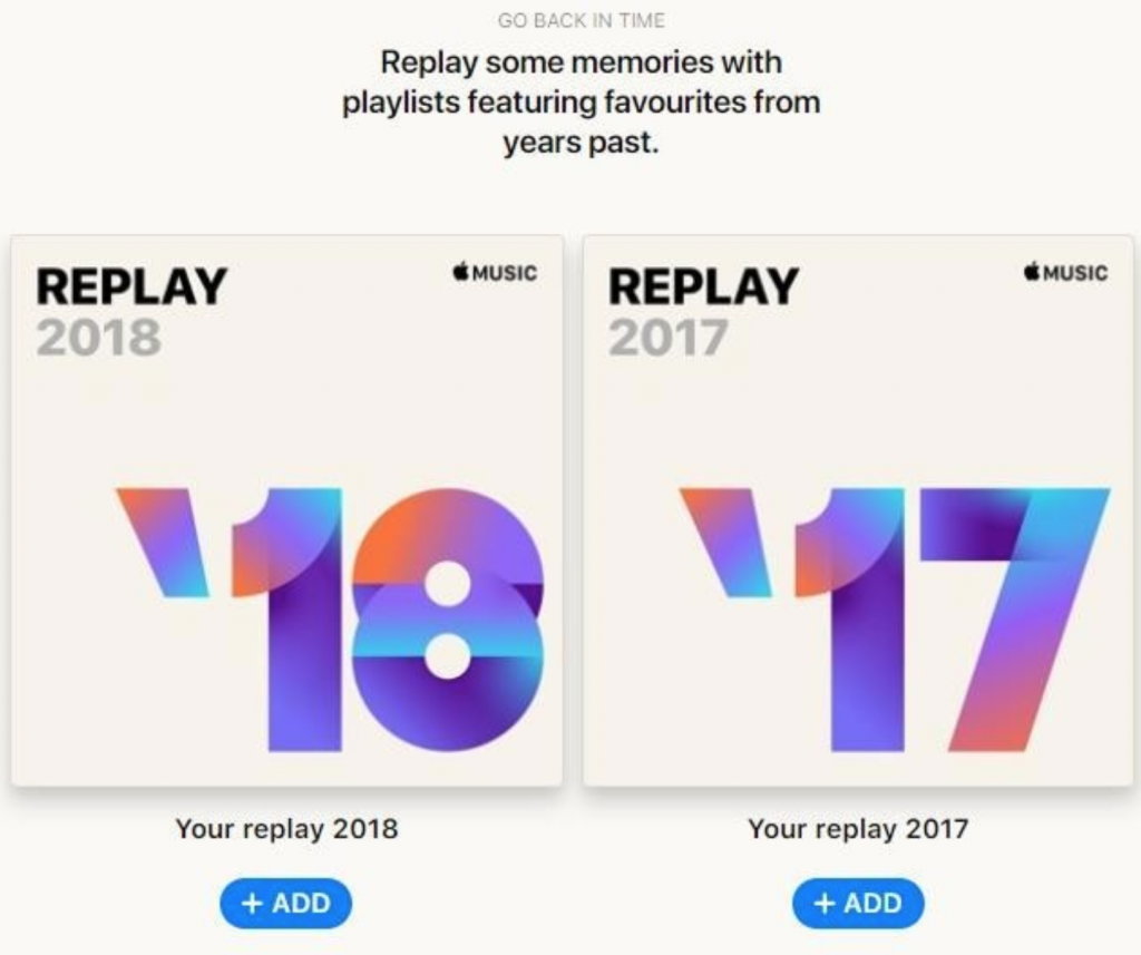 Apple Music Gets New Replay Playlist Feature