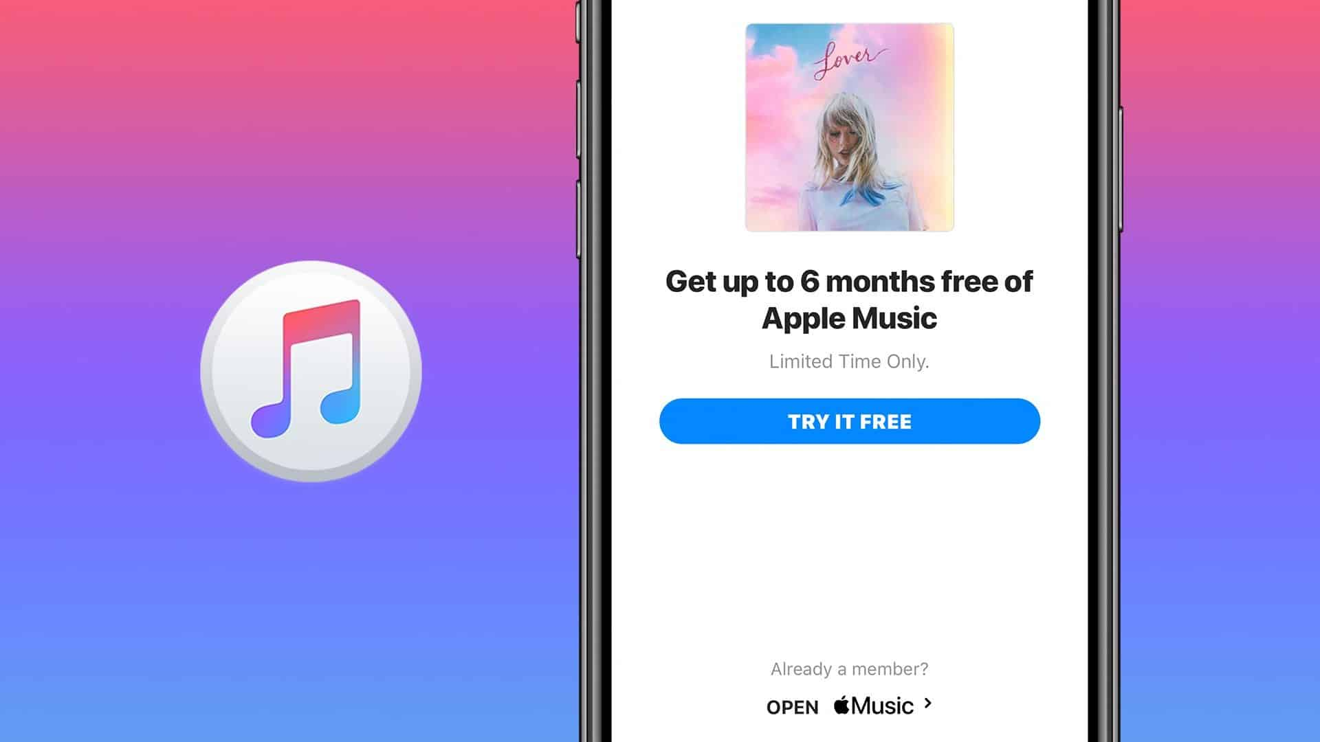 Apple Music free promotion