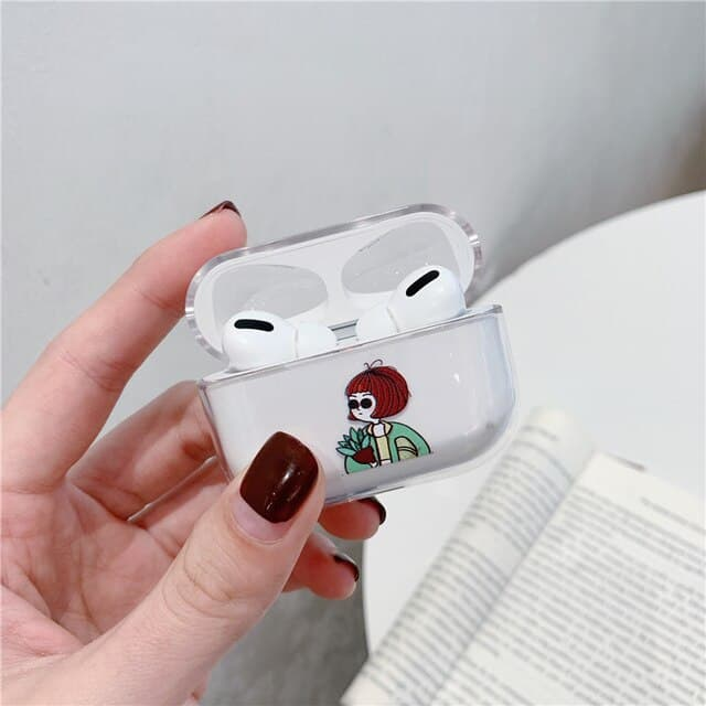 This is a Funny Nostrils Pattern case for the AirPods Pro.