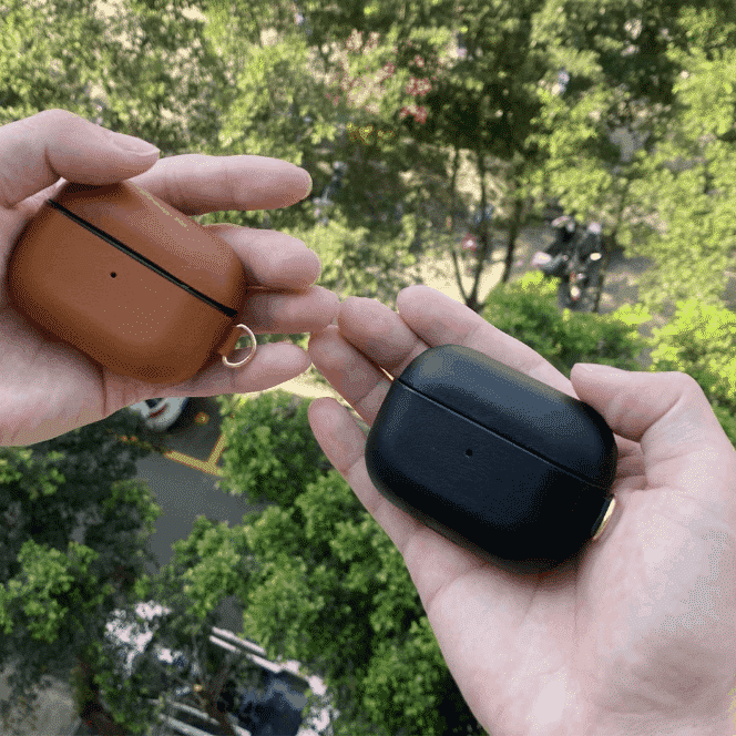 This is a Genuine Leather case for the AirPods Pro.