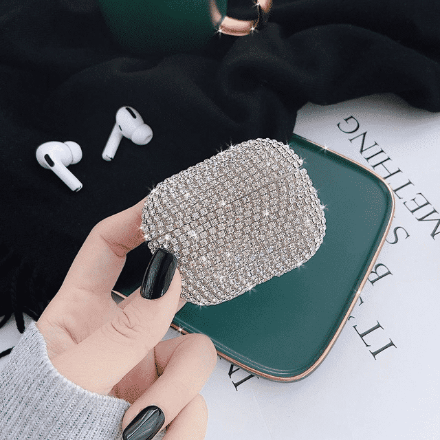 This is a Glitter Bling Diamond case for the AirPods Pro.