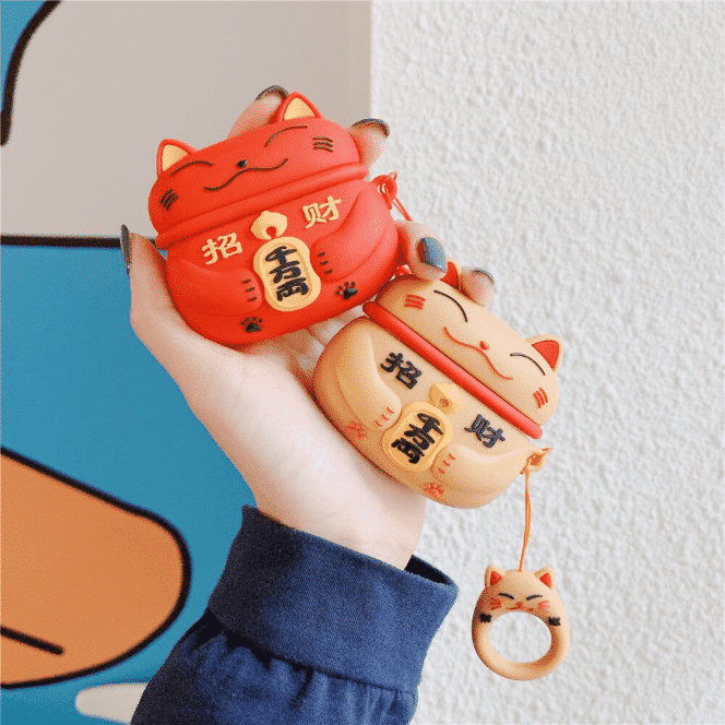 This is a Lucky Cat Pro case for the AirPods Pro.