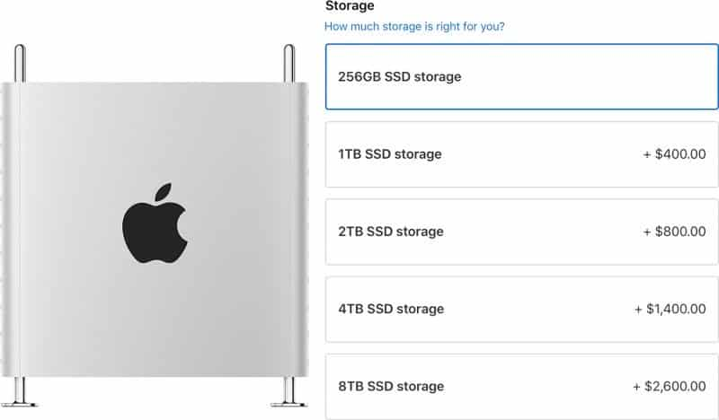 This is the 8TB SSD Mac Pro device by Apple.
