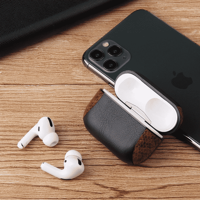 This is Multi-Colored Leather Case for AirPods Pro