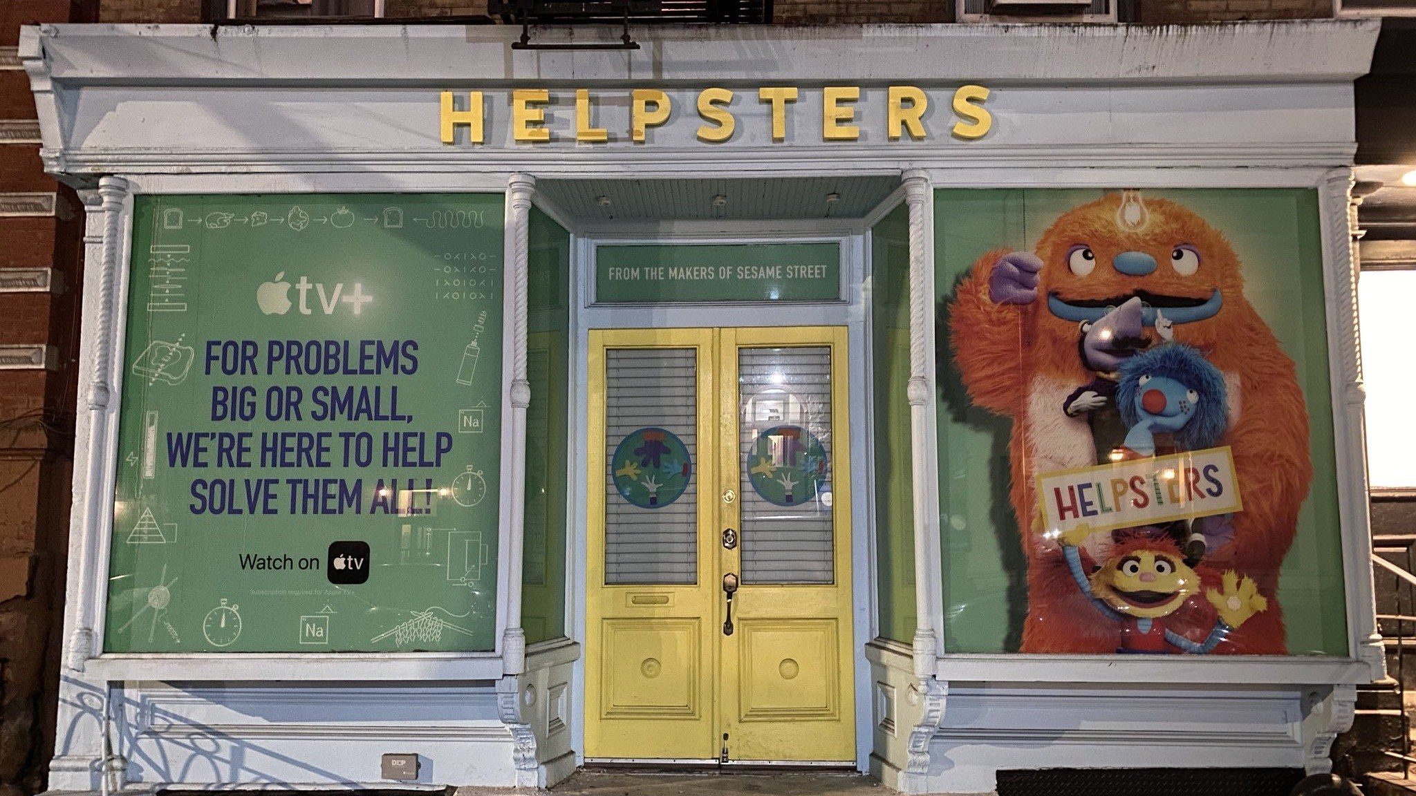 NY Pop-Up Location Opened To Promote Apple TV+ Series 'Helpsters'