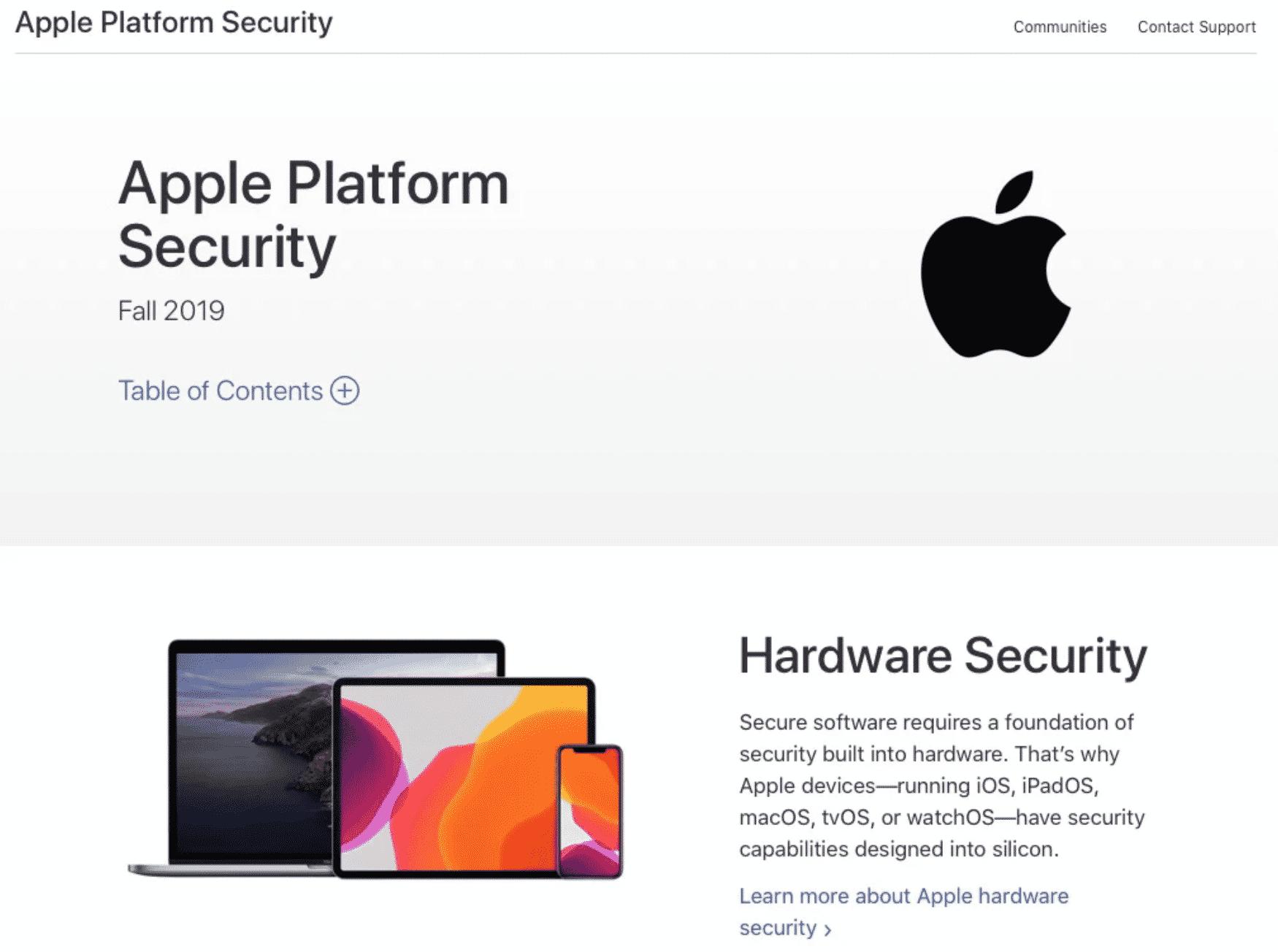 New Apple Platform Security Manual Revealed