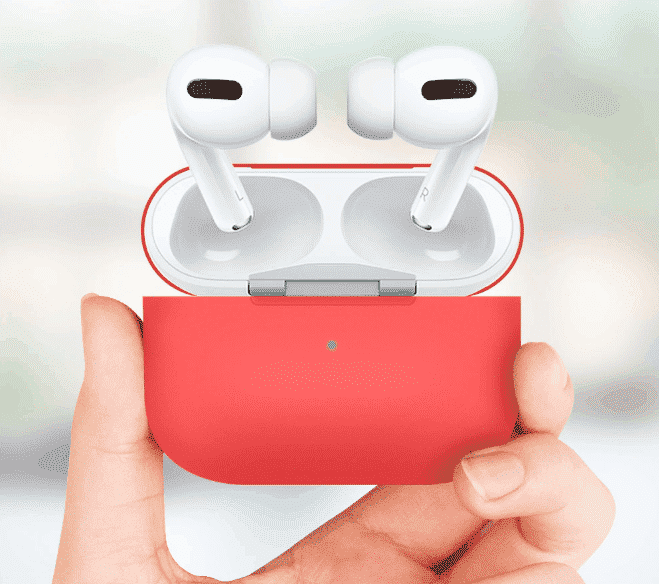 This is a Silicone Shockproof case for the AirPods Pro.