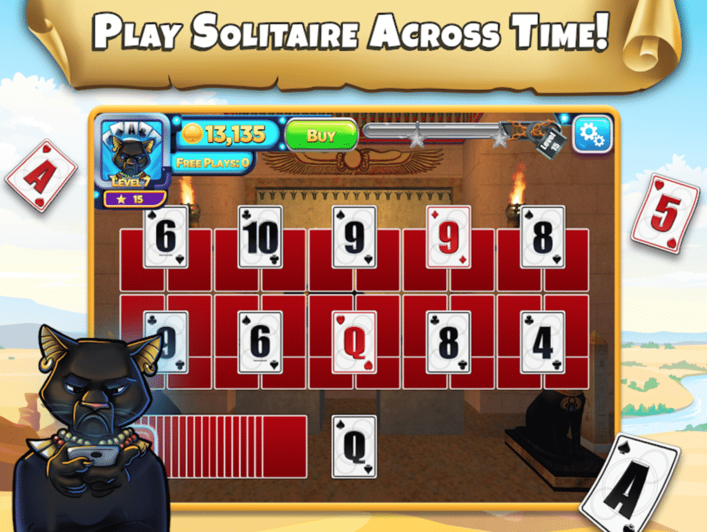 Solitaire Time Warp game play review