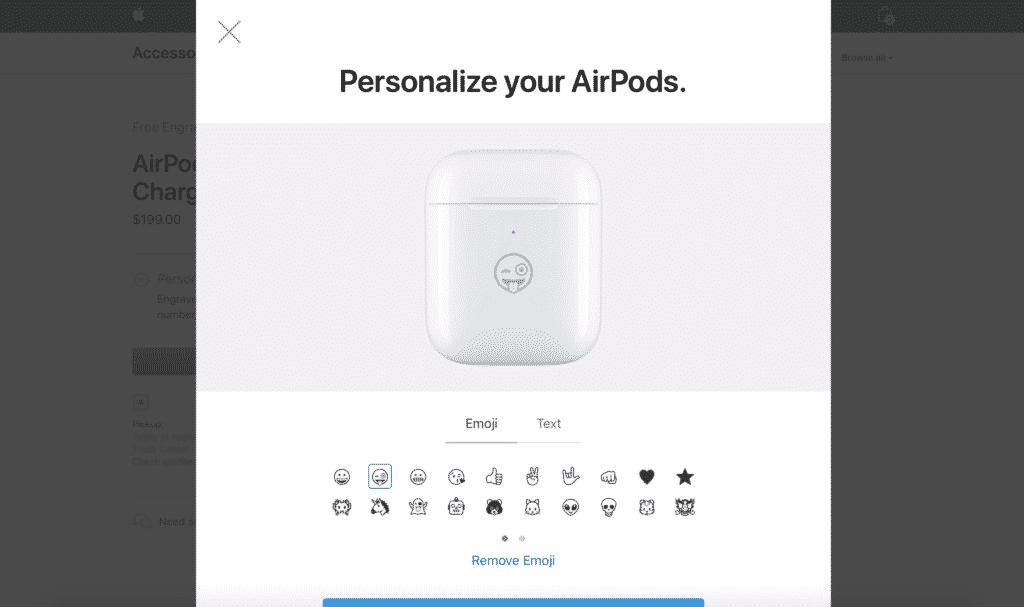 AirPods charging case emoji