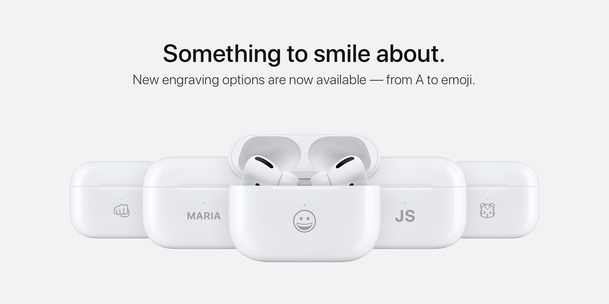 Apple Now Offers AirPods Charging Case Emoji Engraving Options