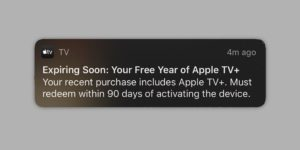 Apple Sends Customers Reminders to Activate Their Free 12 Month Apple TV+ Subscription