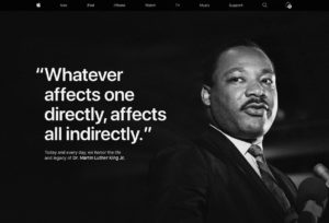 Apple and Cook Commemorate MLK Day