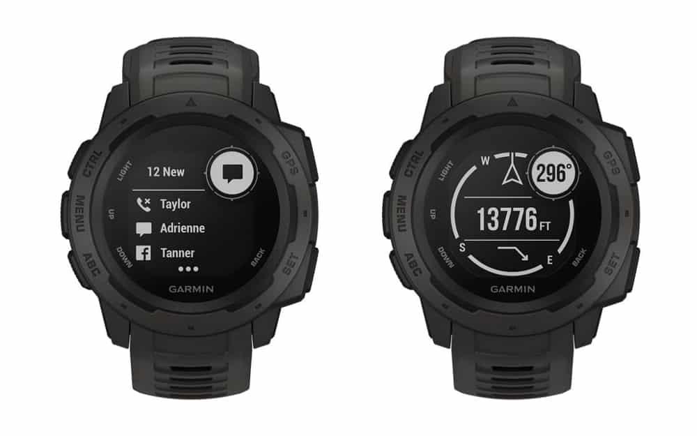 Black Garmin Instinct Smart Watch