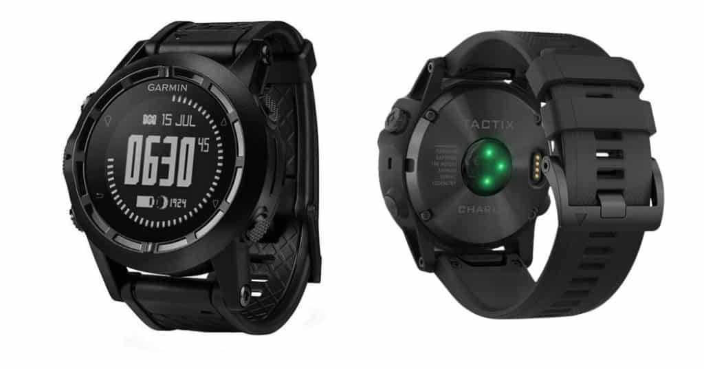 Black Garmin Tactix Bravo Smart Watch