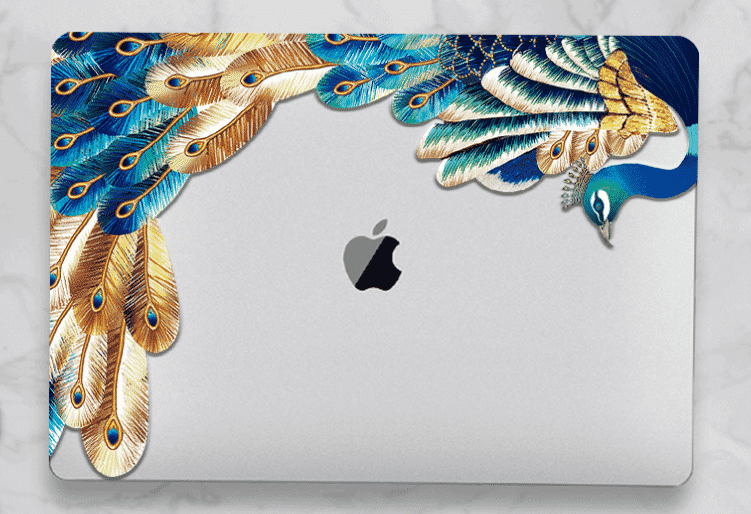 Crystal Feather Hard Colored MacBook Air 2019 case