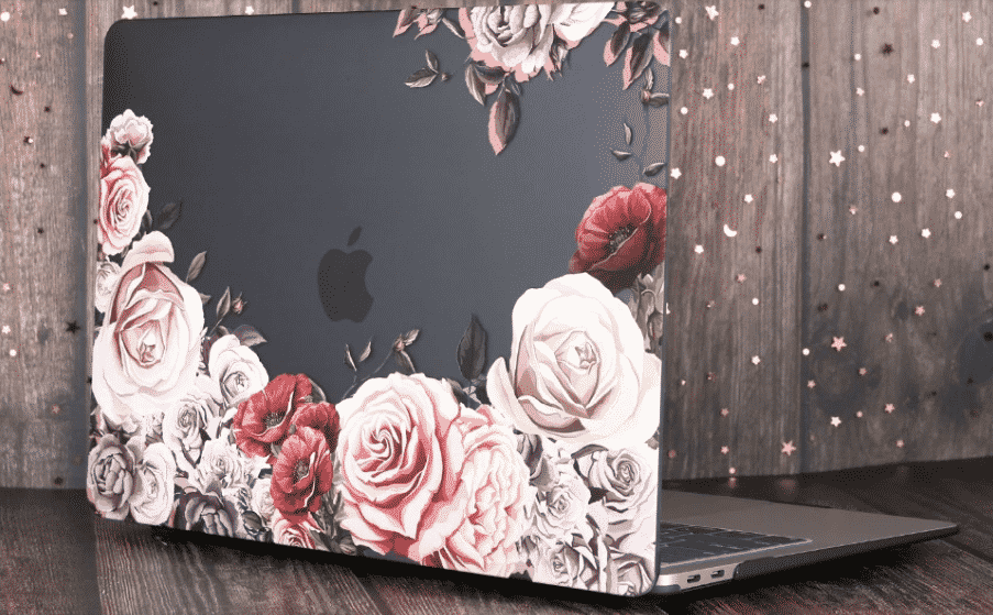 Marble Flower Bling Case for MacBook Air 2019