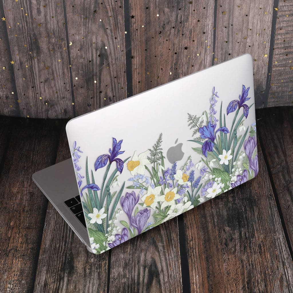 Marble Flower Pattern Case for MacBook Air 2019