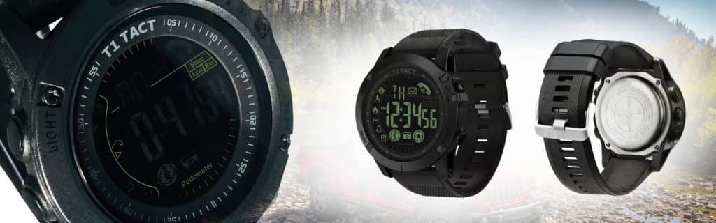 Mens Black T1 Tact Smart Watch - Midnight DIamond Model