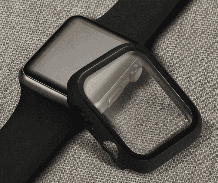 This is the 3D Glass Case for 44mm and 40mm Apple Watch Series 5.