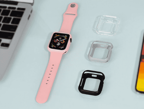 This is the Bumper Silicone Case for 44mm and 40mm Apple Watch Series 5.