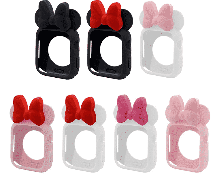 This is the Cartoon Minnie Case for 44mm and 40mm Apple Watch Series 5.