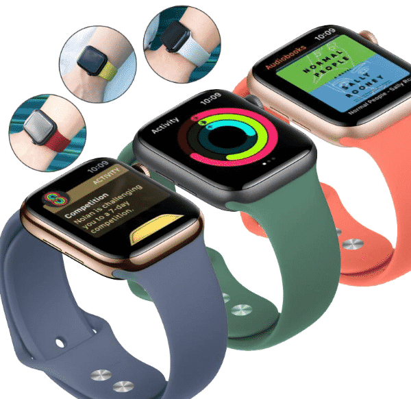 This is the Colorful Silicone Band for 44mm and 40mm Apple Watch Series 5.