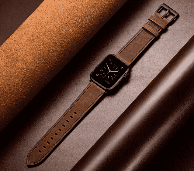 This is the Dark Leather Band for 44mm and 40mm Apple Watch Series 5.