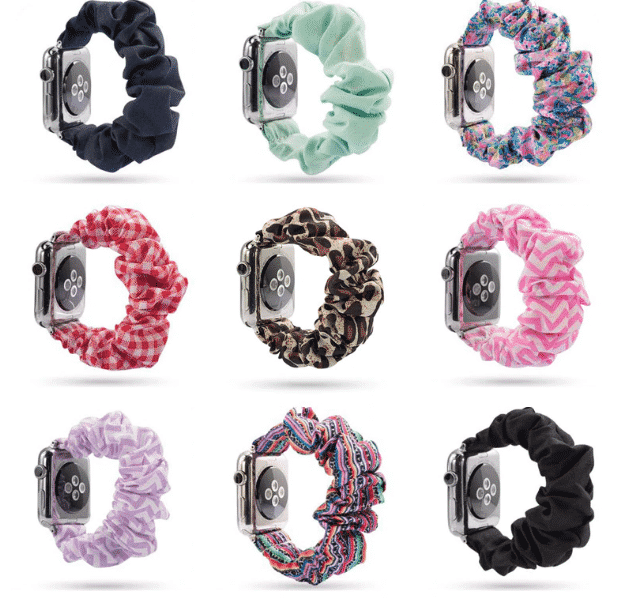 This is the Fashion Scrunchie Band for 44mm and 40mm Apple Watch Series 5.