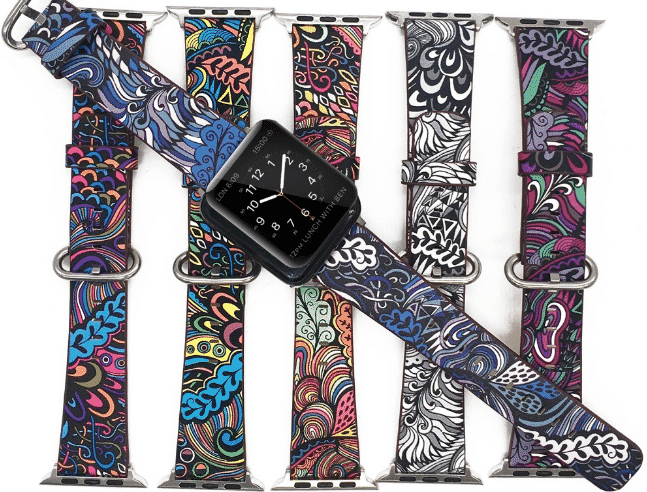This is the Floral Print Band for 44mm and 40mm Apple Watch Series 5.