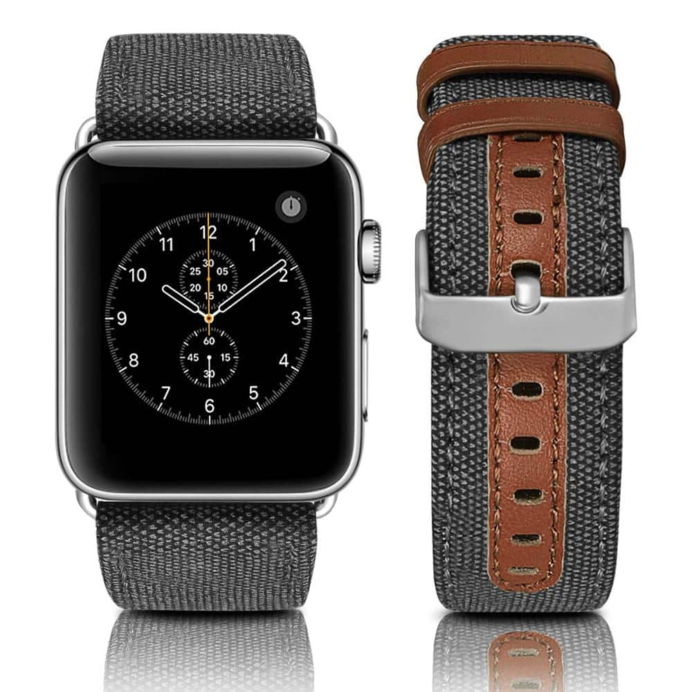 This is the Canvas Leather Band for 44mm and 40mm Apple Watch Series 5.