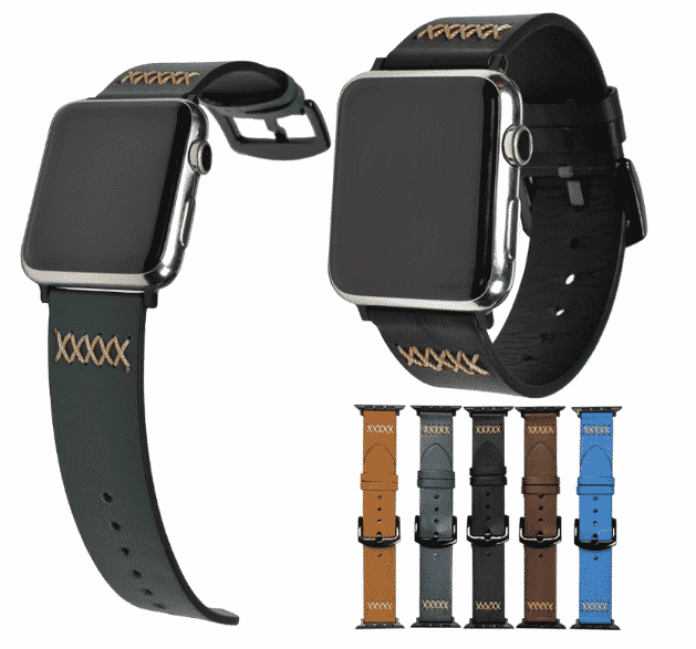 This is the Leather pulsos band for 44mm and 40mm Apple Watch Series 5.