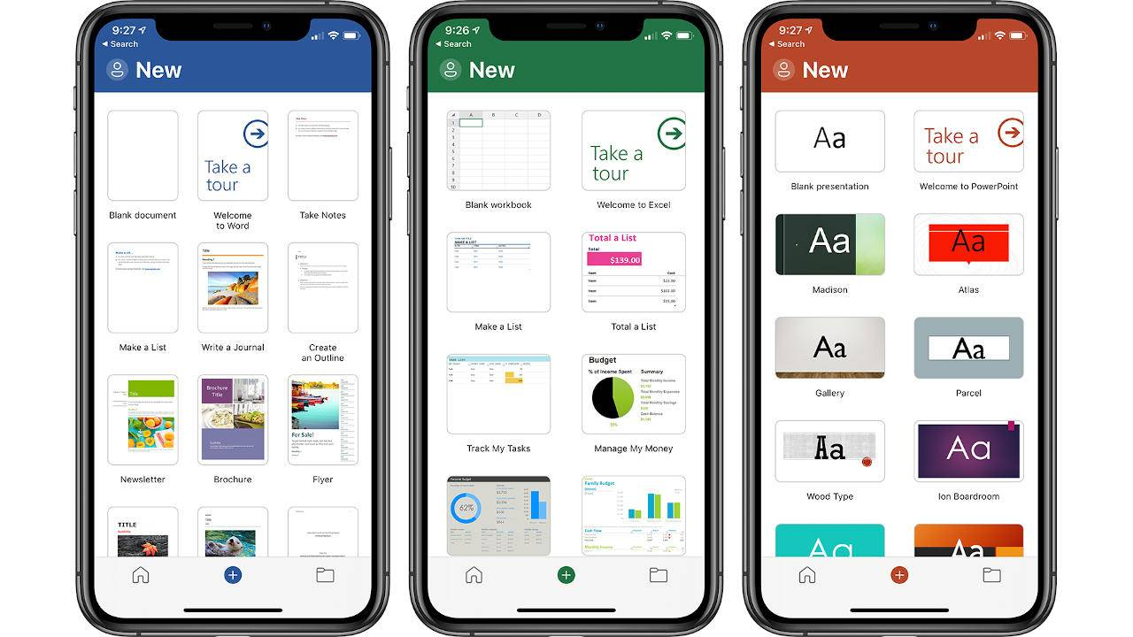 Microsoft PowerPoint, Excel and Word apps on iOS Get a Redesign