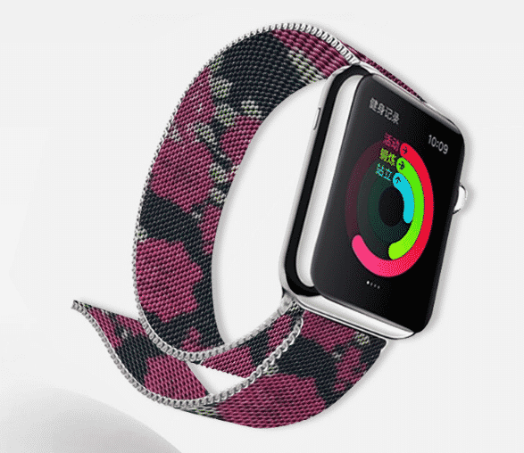 This is the Milanese Printing Band for 44mm and 40mm Apple Watch Series 5.