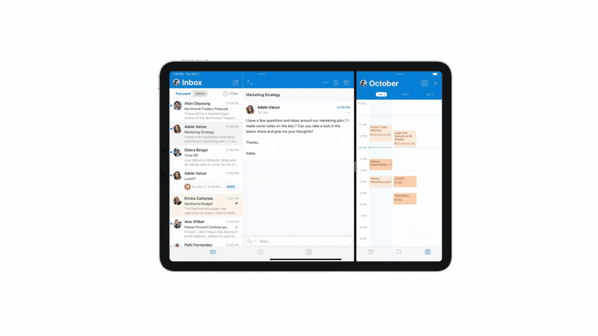 Outlook update on iPad now supports multitasking